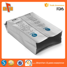 Lengüeta lateral de papel de aluminio laminado de impresión personalizada de café en bolsas de embalaje de frijoles con válvula