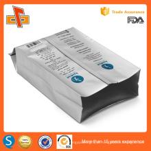 Side gusset folha de alumínio laminado personalizado impressão sacos de embalagem de grãos de café com válvula