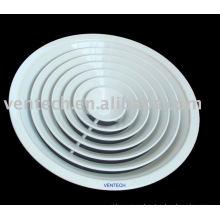 difusor de aire circular de aluminio para ventilación de aire