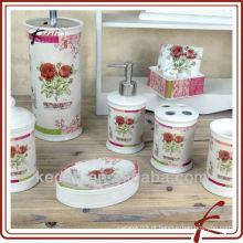 Hot Modern Decorative Porcelain Ceramic Gift Set Produtos de banho