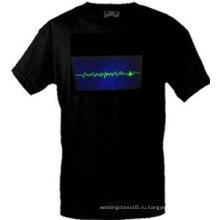 [Потрясающе]Оптовая моды горячей продажи футболки А53,El футболки,LED футболки