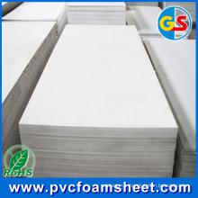 1,22 m * 2,44 m PVC panneau de mousse fournisseur à Shanghai (blanc pur, chaud taille: 4 '* 8')