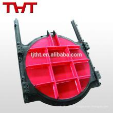 Válvula de refluxo de forma redonda de ferro dúctil para inundação de água
