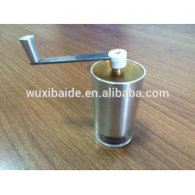 OEM ou ODM Grinder de café manual cerâmica Burr, moinho de café portátil, aço inoxidável