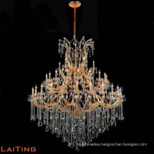 Big size luxury amber crystal maria theresa chandelier for hotel candle chandelier 85525