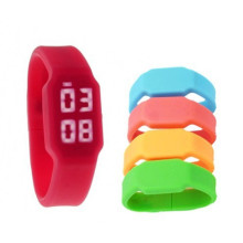 China for Silicone Bracelet Usb Flash Drive Colorful LED Watch Silicone USB Stick 2gb export to Algeria Factories