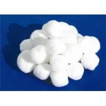 Single use medical absorbent cotton ball