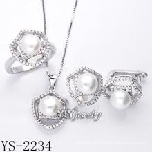 Modeschmuck Zuchtperlen Set 925 Silber (YS-2234)