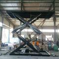 Height adjustable hydraulic scissor lift table