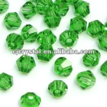 Esferas de esmeralda facetadas, contas de bicone