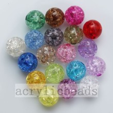 China New Product for Round Acrylic Beads Nice clear decorative round crack jewelry beads supply to Cambodia Importers