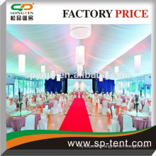 Outdoor luxury aluminum frame canopy tent with PVC windows/lining and curtains for wedding / catering