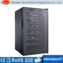 28 Bottles Fashionable Style Glass Door Electric Wine Cooler