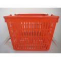 Supermarket New Plastic Shopping Handle Basket