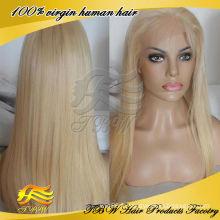 613 couleur perruque indienne vierge cheveux humains pleine perruque de dentelle