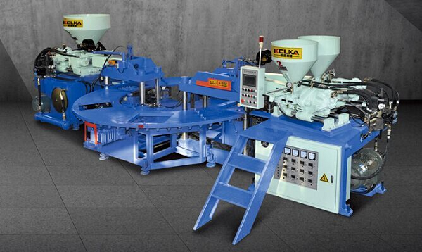 Three Color PVC Upper Injection Moulding Machine