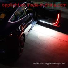 Opplight Courtesy Light Strip 12V 47inch 144 PCS LED Running Board Light Bar White Door Light Strips Red Blink Flashing Warning Light