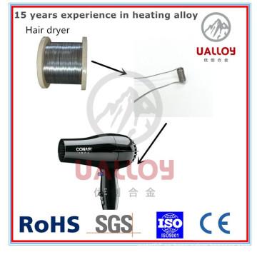 Alambre de calefacción Nicke de 0.35 mm para la aleación 650 de secador de pelo (Ni80Cr20)