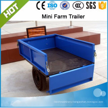 walking tractor 2 wheels trailer