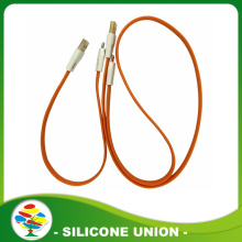 Multi por mayor utilizado 5 en 1 silicona usb cable de datos