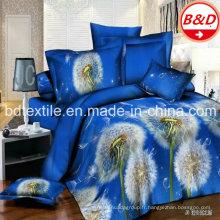 Tissu en microfibre en polyester ultra large et imprimé 3D pour couvre-lits, housse de lit et matelas / Microfibre brossé