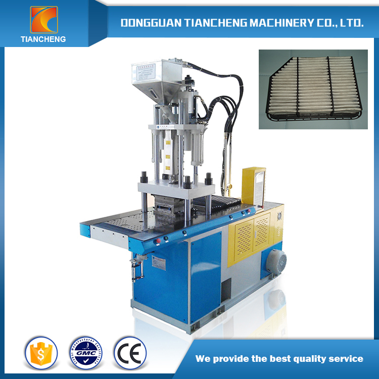 Double Slide Table Vertical Injection Machine