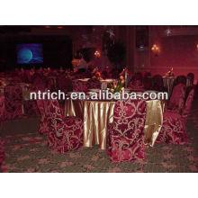 Fascinante cubierta de la silla Damasco, cubierta de la silla del telar jacquar para el banquete de boda