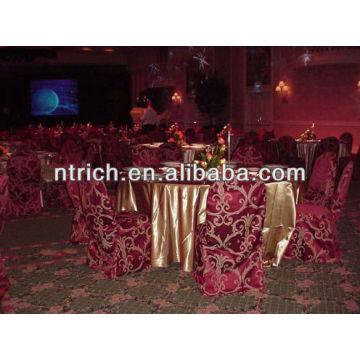 Couverture de la chaise damassé fascinant, couverture de chaise jacquard pour banquet/mariage