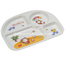 100% de louça de melamina-kid's tableware quatro-dividido placa (bg802)