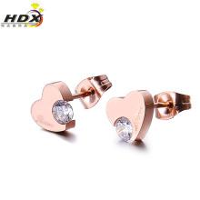 Boucle d'oreille / pendentif en forme de coeur en acier inoxydable en 2016