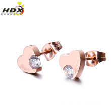 2016 Fashion Stainless Steel Heart-Shaped Jewelry Earring/Stud