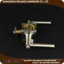 Durable aleación de zinc de privacidad / pasaje / Manija palanca de bloqueo de la puerta con acabado de níquel satinado