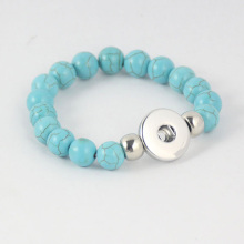 DIY Noosa Snap Turquoise Beads Chain Bracelet Chunk Bangles