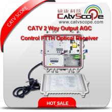 CATV 2 vías salida Agc control FTTH receptor óptico