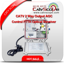 Professional Supplier High Performance CATV 2way Output Agc Control FTTH Optical Receiver