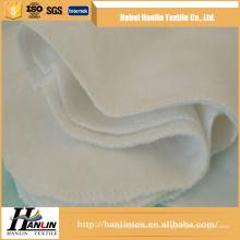 Tissage en vrac en gros 100% coton / cvc 120gsm tissu de flanelle blanche pour couverture de bébé / couche-culotte thailande