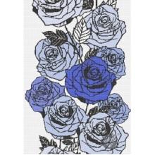 Peinture murale d'art en mosaïque de verre à motif répétitif de fleurs roses