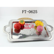 Stainless Steel Big Decorative Design Tray (FT-0625)