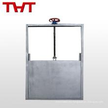 Compuerta cuadrada de acero fabricada