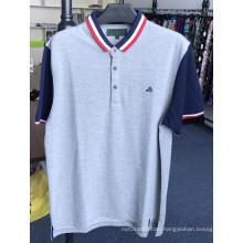 Men's CVC Cotton Polyester Pique Heather Polo Shirts