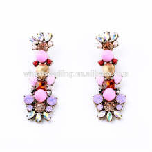 pink lovely latest cute girls drop fashion design hanging earrings