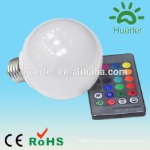 Économiseur d'énergie e27 e26 b22 e27 rgb ampoule led avec ir rgb ampoule led rgb bulbe