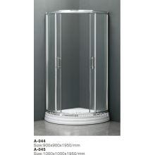 Pièces de porte de douche populaires en plastique avec un nouveau style