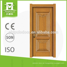 Puerta interior de melamina HDF de alta calidad para puerta de tablero de China