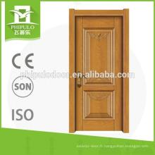 Porte intérieure en mélamine de haute qualité HDF porte de la Chine