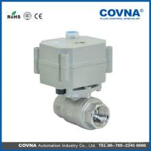 Válvula de bola eléctrica del agua de la energía del actuador del latón de 2 maneras para el tratamiento de agua