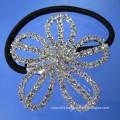 wholesale crystal hair accessories flower shape elastic hair band