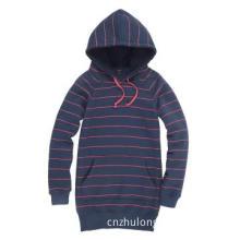 Girl\'s Long Hoody Hoodie Sweatshirt  Outwear with Stripes