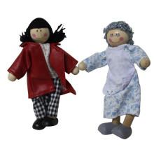 Série Família Feliz crianças brinquedo de madeira Doll