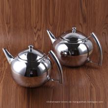 Geschirr Edelstahl Cold Brew Kaffeemaschine / Reines Silber Farbe Wasserkocher Teekanne